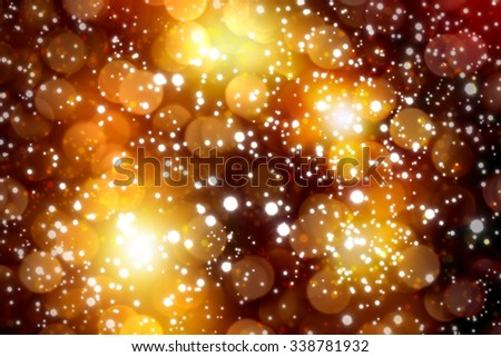 Christmas lights background.Blurred christmas lights golden background.