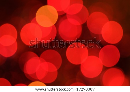 Christmas lights background. Defocused image of      bulbs - stock photo