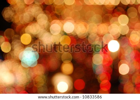 Christmas Lights Blurred - stock photo