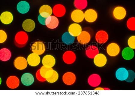 Christmas Lights Bokeh - stock photo