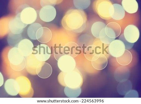 Christmas lights defocused background. Vintage styled holiday abstract bokeh - stock photo