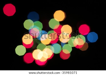 Christmas lights defocused to abstraction