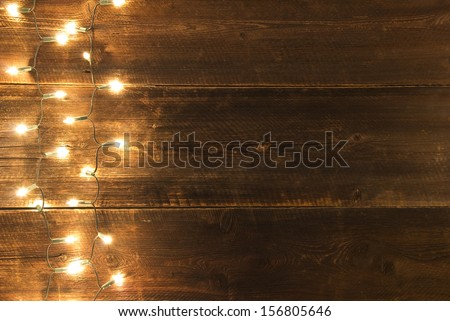 CHRISTMAS LIGHTS SERIES - stock photo