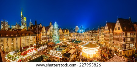 Christmas market in Frankfurt, Germany - stock photo