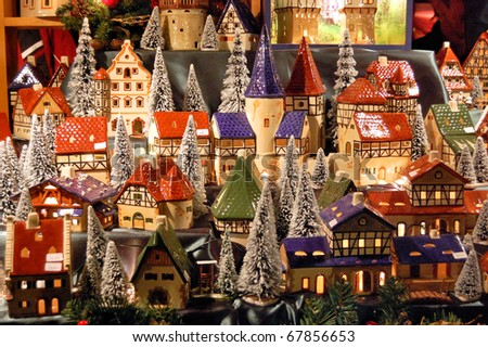 Christmas market in Germany - stock photo