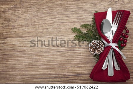 Table Setting Background christmas table place setting holidays background stock photo