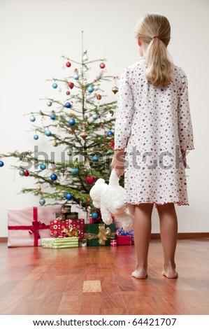 Christmas morning - stock photo