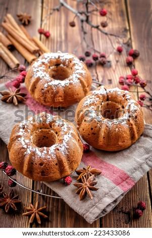 Christmas muffins - stock photo
