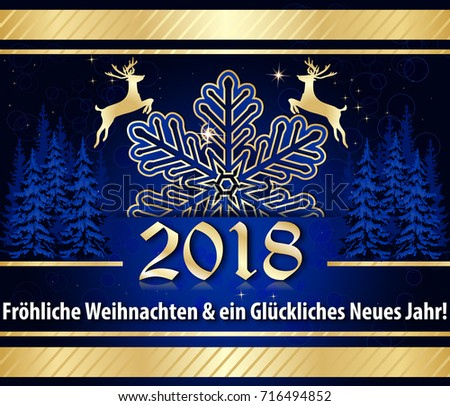 Christmas new year 2018 greeting card stock illustration 716494852 christmas new year 2018 greeting card with german text text translation merry christmas m4hsunfo
