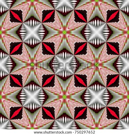 Christmas, New Year, Winter pattern with psychedelic abstract form