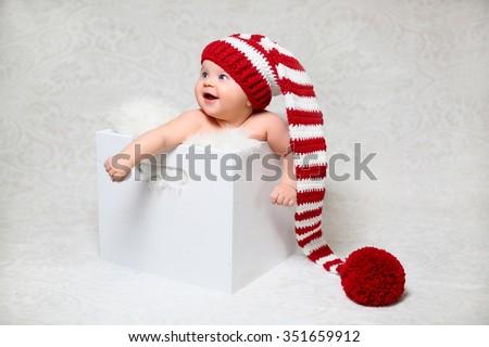 christmas newborn - stock photo