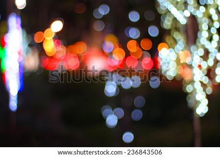 Christmas night light bokeh - stock photo