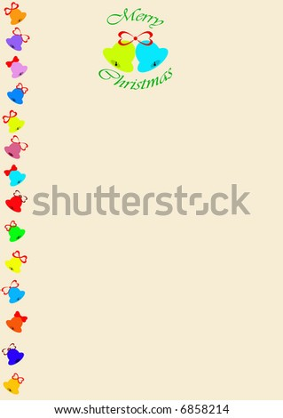 Christmas notepaper - stock photo