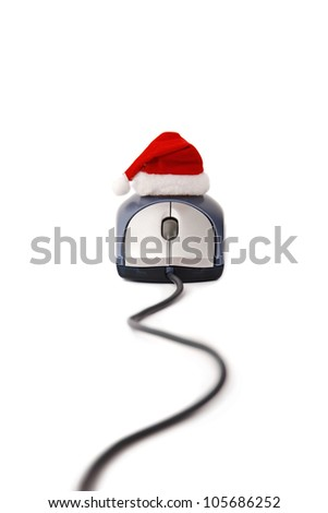 Christmas on-line time on white background