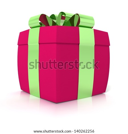 christmas or anniversary gifts on white background