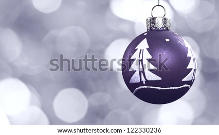 Christmas Ornament Background - stock photo