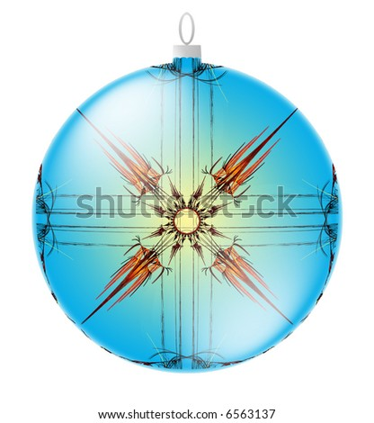 Christmas Ornament illustration isolated on white background for easy selection - stock photo
