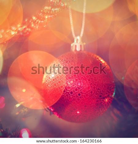 Christmas ornament on the Christmas Tree - stock photo