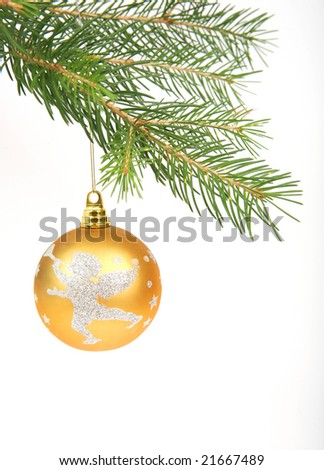 Christmas ornament on white background.