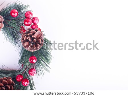 Christmas ornaments with black background