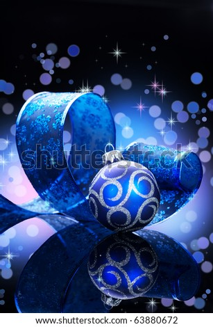 Christmas over black - stock photo