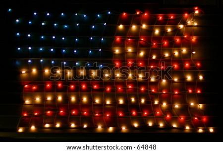 Christmas Patriotism - stock photo