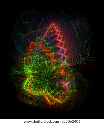 Christmas Pinecone Ornament abstract illustration - stock photo