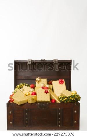 christmas present gifts - stock photo