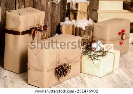 Christmas Presents Box - stock photo
