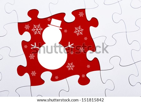 Christmas Puzzle - stock photo