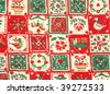 Christmas quilt detail - stock photo