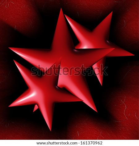 Christmas red stars