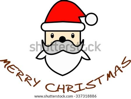 Christmas retro icon. - stock photo