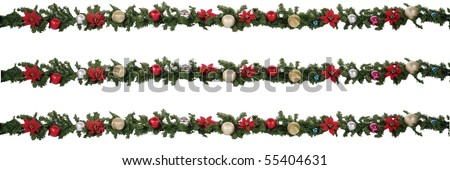 christmas ribbons - stock photo