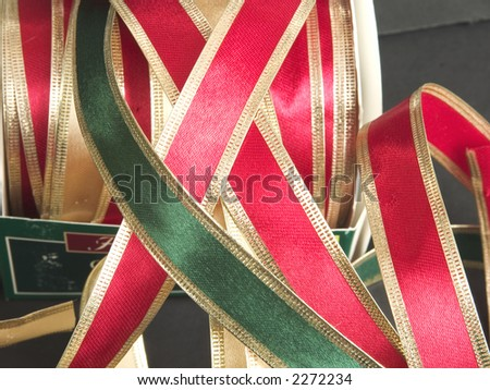 Christmas Ribbons for Gift Wrapping - stock photo
