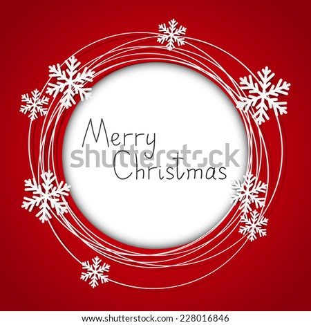 Christmas round frame with place for text - stock photo