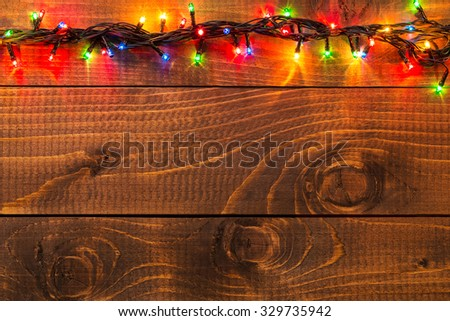 Christmas rustic background - stock photo