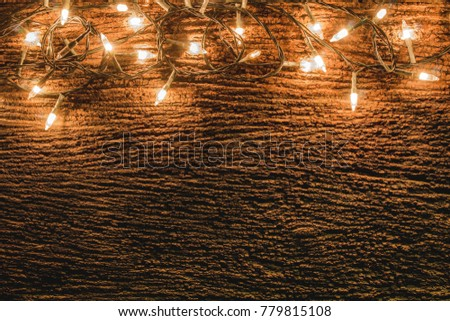 Christmas Rustic Background Vintage Planked Wood Stock Photo