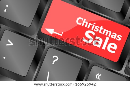 christmas sale on computer keyboard key button