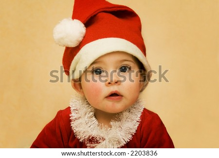 Christmas Santa Baby - stock photo