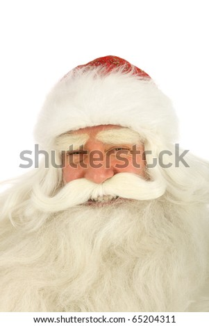 Christmas Santa Claus . Isolated on white - stock photo