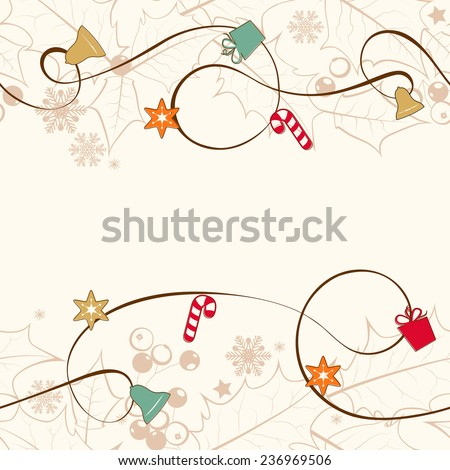 Christmas seamless background. - stock photo