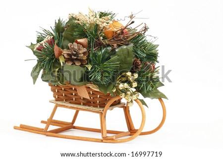 Christmas sleigh - stock photo