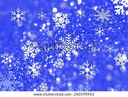 Christmas snow flake design for backgrounds and backdrops - stock photo