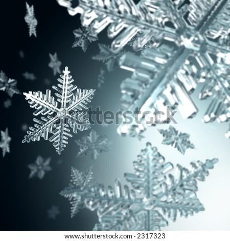 christmas snowflakes - stock photo