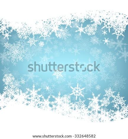 Christmas Snowflakes Card - Raster Version - stock photo