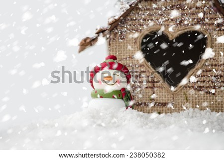 christmas snowman decoration  - stock photo
