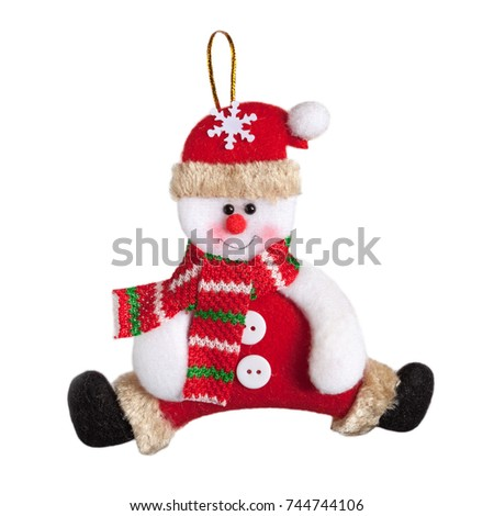 christmas snowman isolated on white background