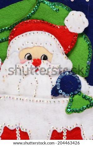 christmas sock detail - stock photo