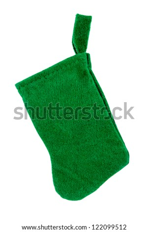 Christmas sock isolated on white